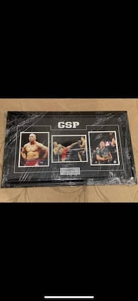 Georges St-Pierre Autographed frame - authenticated