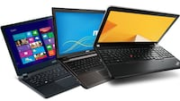 several black laptop computers