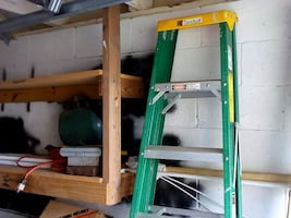 7 foot ladder ,welder ,drill , new scroll saw