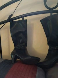 pair of black leather knee-high boots Olney, 20832