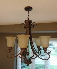 5 ght wrought iron chandelier