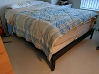 Queen bed with frame Cambridge
