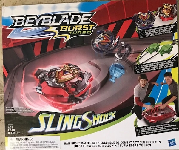 JUST REDUCED! BEYBLADE Burst Turbo Slingshock Rail Rush Battle Set