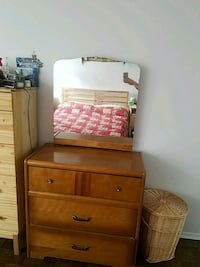 brown wooden dresser with mirror Mississauga, L5A 3S1