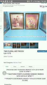 2 beautiful floral art pictures Seagoville, 75159