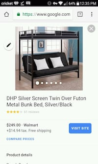 Used Metal twin/futon. Same as pic. Hagerstown, 21742