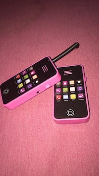 two pink-and-black phone toys wallow talkies  Woodbridge, 22191