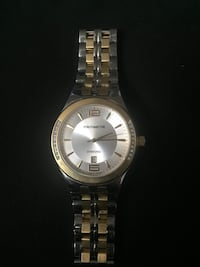 round silver-colored analog watch with link bracelet Abbotsford, V2T 1L6