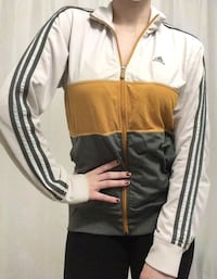 Adidas Track Jacket Grey Mustard Yellow and White Toronto, M2M 3T9