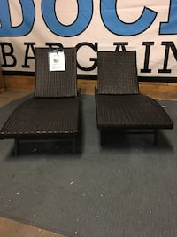 Set of 2 Chaise Lounge Chairs