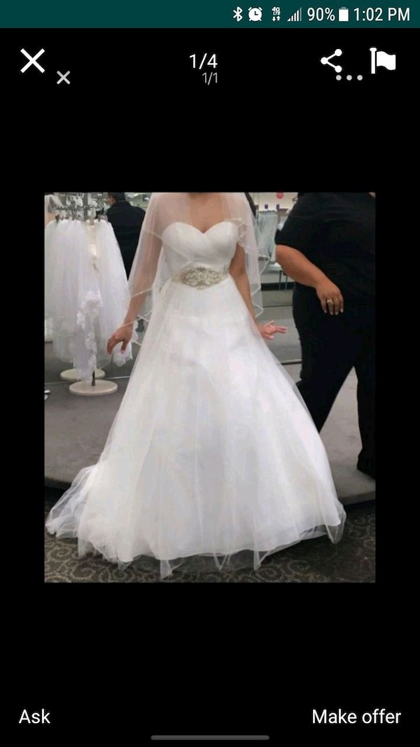 Used Women S White Wedding Gown For Sale In Fort Worth Letgo
