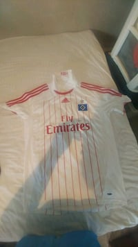 white and red Adidas Vodafone jersey Pleasant Hill, 71065