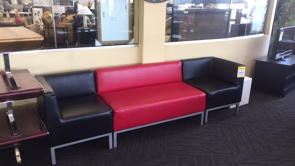 Small Red/Black Sectional