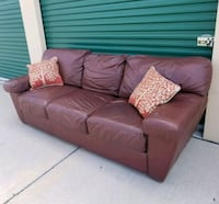 brown leather 3-seat sofa Frisco, 75034