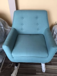 New turquoise mid century accent chair Toronto