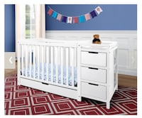 White/wood crib with changing table   Kelowna, V1V