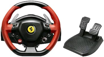Xbox one Ferrari steering wheel and pedals