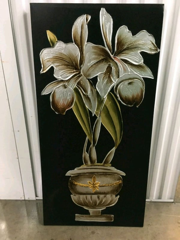 white orchids in grey garden urn painting a4333866-7b40-474d-8764-fbf1a0cb60cd