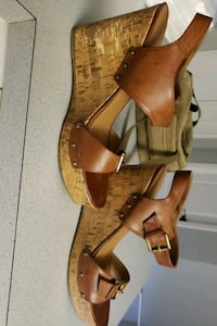 Brown wedge heels, used great condition.