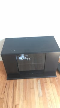 Black wooden framed glass tv stand Norfolk, 23505