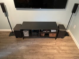 Sony Stereo system with 2 JBL speakers and 2 speaker stands