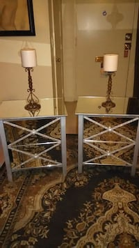 Set of 2 Silver-and all sides mirrored NightStands Northridge, 91325