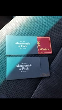 Abercrombie and Fitch cards