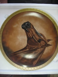 brown and black wooden decorative plate OAKVILLE