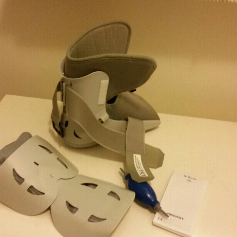 Foot brace with pump.