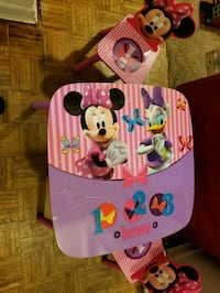 Minnie mouse wooden table snd chairs  Ashton-Sandy Spring, 20861