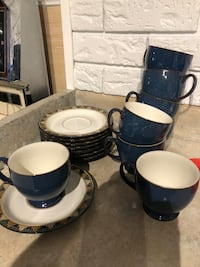 Denby Blue meridian spa-cups and saucers  Mississauga, L4W 2E9