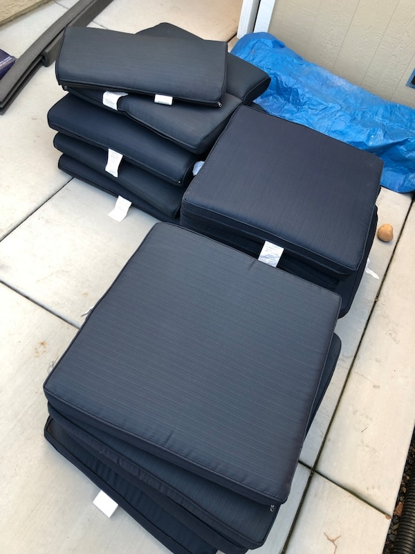 New patio furniture cushions. 0f922a94-2040-4897-b2aa-1cdc5b9bcc77