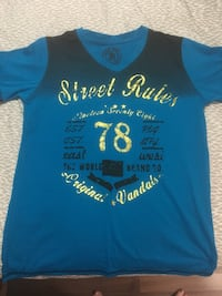 blue and white crew-neck shirt Mississauga, L5N