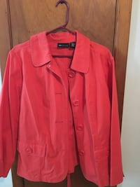 Women's cotton 2x coral jacket New Lenox, 60451