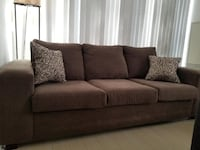 Brown Sofa includes two accent pillows 539 km