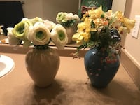 Flower pot vases with artificial flowers Houston, 77024