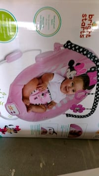 Baby's pink and white bouncer box (new in box) Los Banos, 93635