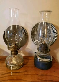 two clear glass candle holders Winnipeg, R3R