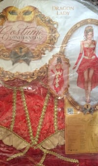New - Red and Gold Dragon Lady Costume Size XS Washington, 20007