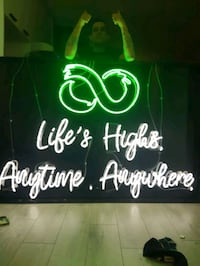 'POT FRIENDLY'   NEON SIGN...TRULY MUST HAVE