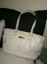 white Coach monogram tote bag Las Vegas