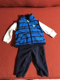 Newborn vest, pants and long sleeved onesie set