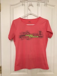 Pink under armour scoop-neck t-shirt
