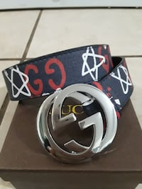 "Gucci Belt New with Dust Bag and Box.Size 36-42"" I have a belt hole pu"