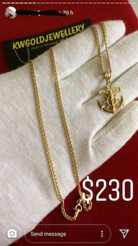 gold-colored anchor pendant necklace screenshot Kitchener, N2B 3H5