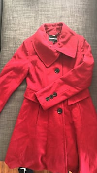 Express red wool coat