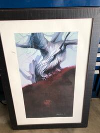 black wooden framed painting of woman Moreno Valley