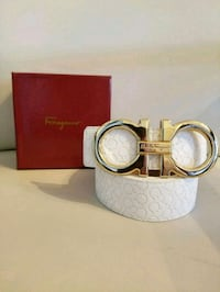 gold Salvatore Ferragamo buckle with white leather belt Royal Palm Beach, 33411