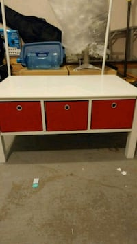 white and red wooden table Edmonton
