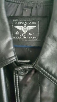 black Reportage RGA made in Italy leather button-up jacket Lancaster, 93535